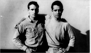 Jack Kerouac, right, with his friend and road companion Neal Cassady in 1952.